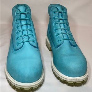"Timberland Shoes - Timberland Junior 6"" premium waterproof boots Teal"